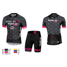 custom cycling suit lion pink black unisex Couple summer short sleeve bike set jersey clothes racing wear ropa ciclismo uniforme цена