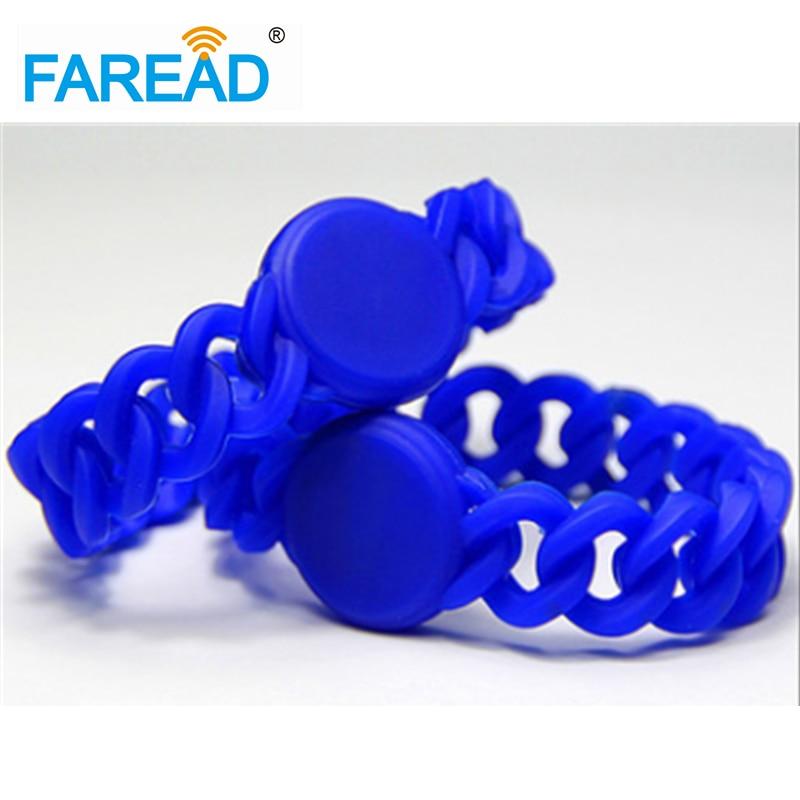 X100pcs 125khz TK4100  RFID Wristband  Free Shipping