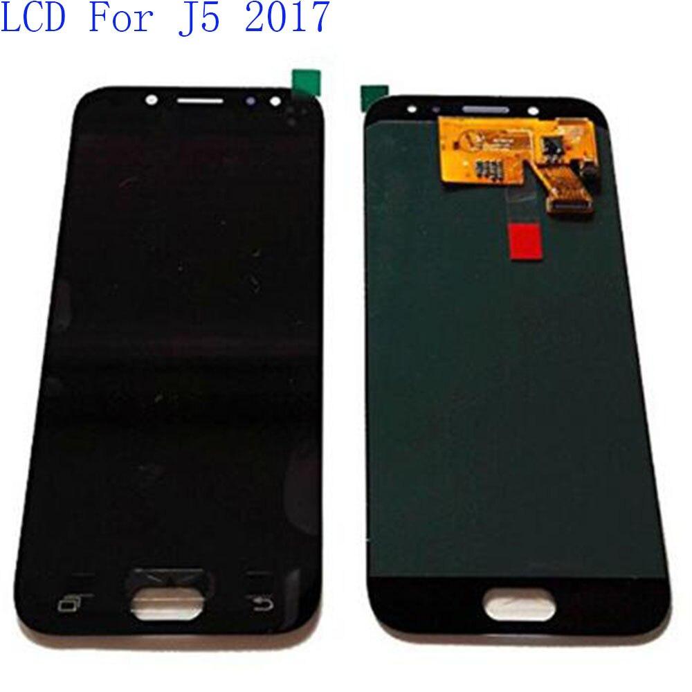 Super Amoled LCD de Remplacement D'affichage Pour Samsung Galaxy J5 2017 LCD J530 J530F SM-J530 LCD Tactile Digitizer Assemblée 100% Testé