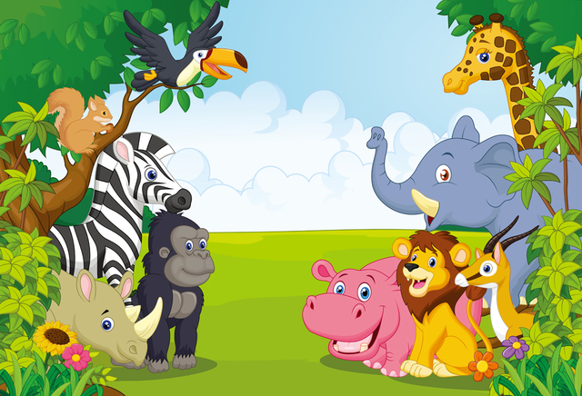 huayi 5x7ft jungle safari themed animals birthday party yes clip art free images eyes clip art