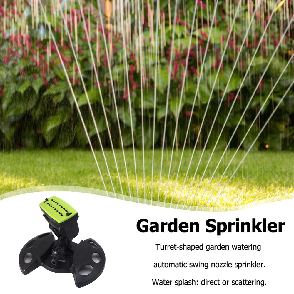 16 Holes Garden Sprinklers Sprayer Automatic Swing Nozzle Lawn Sprinkler Garden Lawn Forestry Irrigation Watering Tools