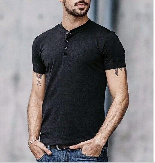 男性 100% メリノウール Tシャツ半袖ベース層ミッドウェイトトップ熱男性スポーツメリノウールヘンリー Tシャツサイズ S XL 180 グラム  グループ上の メンズ服 からの Tシャツ の中 1