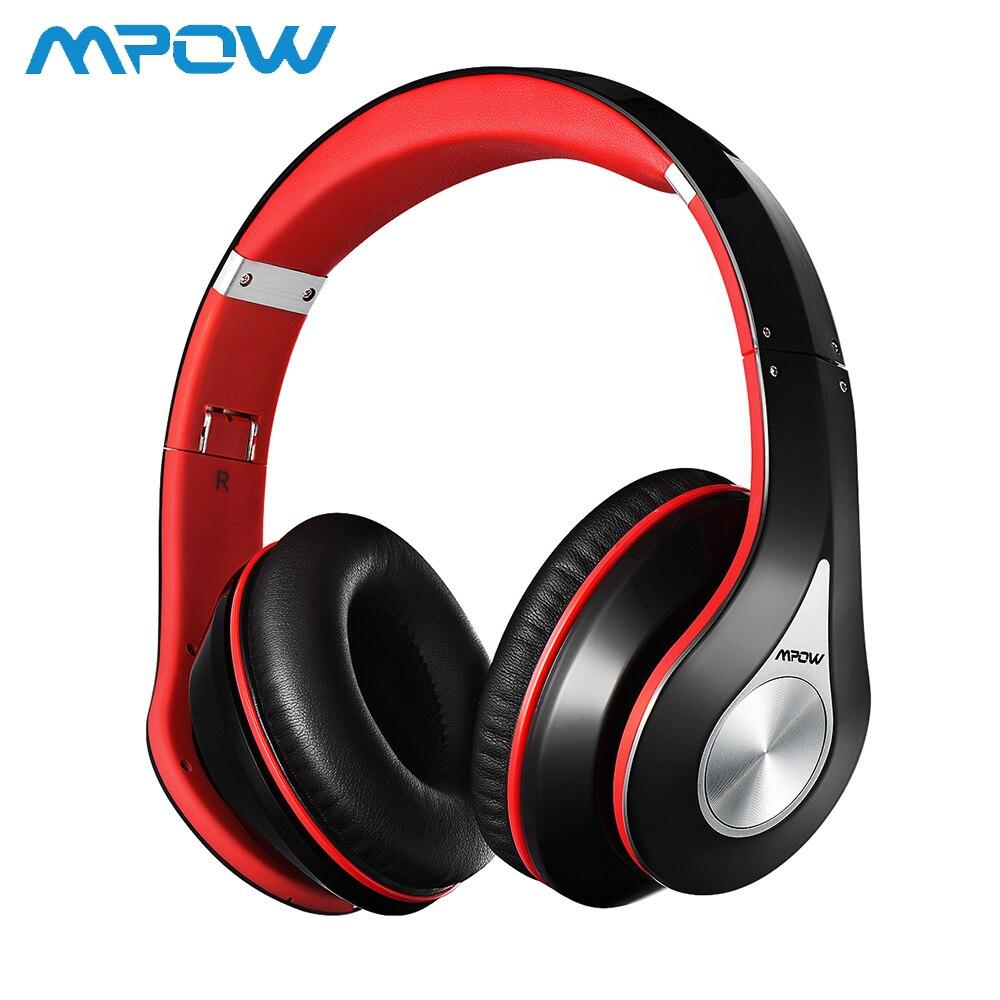 Mpow casque stéréo sans fil anti-bruit intégré micro casque de marque Mpow pliable avec 13 heures de temps de lecture casque