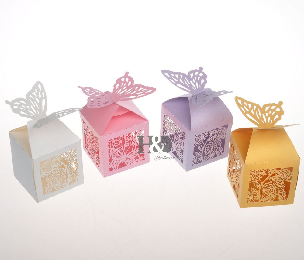 Four color for your chose Butterfly Paper Ribbon Candy Box Party Wedding Favors Decorations Show Candy Box for guests Souvenirs-in Gift Bags & ...