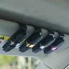 Портативный авто крепеж Cip автомобильный зажим для очков зажим для билетов, карточек ABS автомобиля VehiGlasses Чехол черный автомобиль солнцезащитный козырек держатель солнцезащитных очков