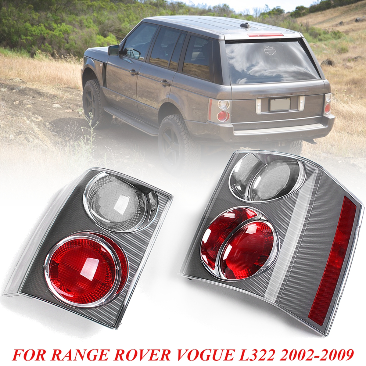 for Land Rover Tail Light 1 Pair Tail Brake Stop Light Rear Tail Lights Bumper Reflector For RANGE ROVER VOGUE L322 2002-2009 2 pcs pair rear bumper lights without bulbs tail fog lamps for toyota land cruiser prado fj120 2002 2009