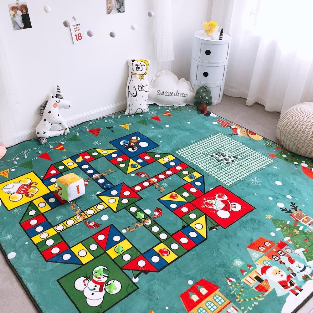 Grand tapis d'échecs impression tapis d'escalade activité chambre enfants jouer voiture tapis route pas d'odeur retour zone de jeu tapis amusant tapis pour jouer aux échecs