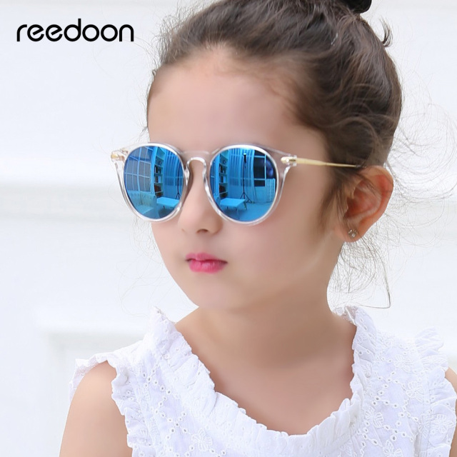 4bf7c8c977 Reedoon Kids Sunglasses Fashion Polarized Mirror UV400 HD Lens Metal Frame Baby  Eyewear Cute For Girls Boys oculos infantil 2958