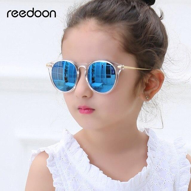 Reedoon ילדים משקפי שמש אופנה מקוטבות מראה UV400 HD עדשת מתכת מסגרת תינוק Eyewear חמוד עבור בנות בני oculos infantil 2958