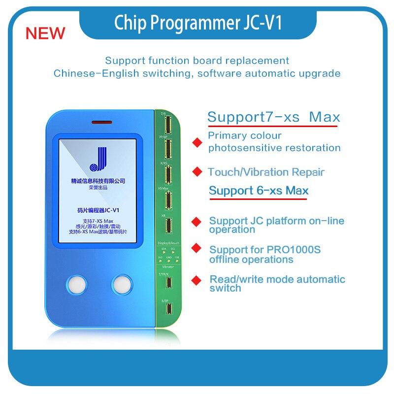 NOUVEAU JC V1 capteur de Lumière true tone réparation viration récupération pour 6 7plus 8plus X XS MAX XR Puce tactile JC PRO 1000S programmeur