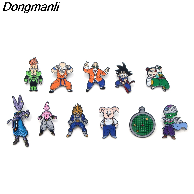 P3221 Wholesale 20pcs lot Dragon Ball Metal Enamel Pin for Backpack Bag Jeans Clothes Badge Lapel