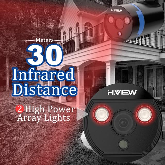 H.VIEW Security Camera System 8ch CCTV System 4 1080P CCTV Camera Video Surveillance Kit 8ch DVR Video Surveillance Outdoor 4