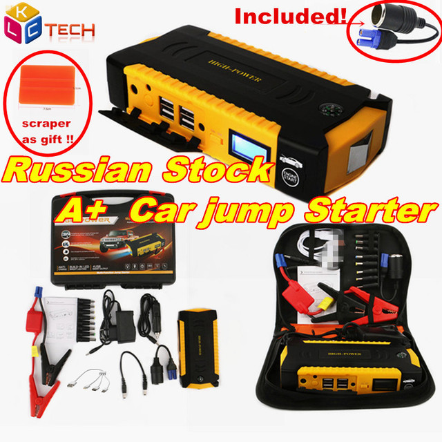 Super Power Car Jump Starter Power Bank 600A Portable Car Battery Booster Charger 12V Starting Device Petrol Diesel Winter Cold