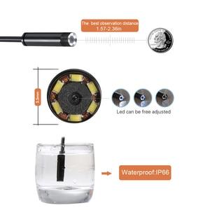 Image 2 - JINGLESZCN AV kamera endoskopowa 5.5mm obiektyw 1 m/5 m/10 m/15 m/20 m długość 12V Mini NTSC wodoodporny boroskop inspekcyjny Cam wąż rury