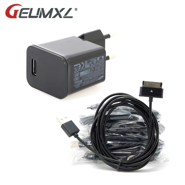 GEUMXL 2 M USB Cable de cargador de datos de adaptador Cabo Kabel para Samsung Galaxy Tab 2 3 Tablet 10,1 7,0 P1000 p1010 P7300 P7310 P7500