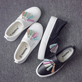 Universal Spring Shoes Korean Color Tassel Lazy Pedal Muffin Thick Bottom Shoes Loafer Set Foot Shoes Women Canvas Shoes