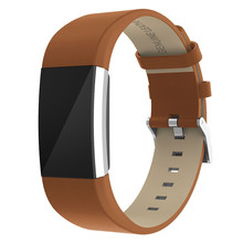 купить Leather Strap Band For Fitbit Charge 2 Strap Bracelet Replacement bands For Fitbit Charge 2 smartWatch Band Heart Rate Wristband по цене 240.23 рублей