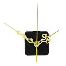 Новое поступление Высокое качество черные кварцевые часы механизм DIY запасные части золото+ руки дропшиппинг D30JL27