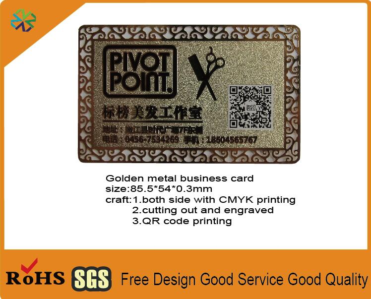 2018 custom golden metal business card metal visiting card vip card 2018 custom golden metal business card metal visiting card vip card with logo words engraved cutting out and qr code printing in business cards from office colourmoves