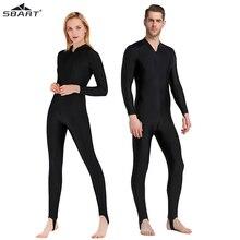 Sbart upf 50 + ライクララッシュガード男性女性黒フルボディワンピース水着長袖ダイビングウェットスーツサーフスーツ太陽保護