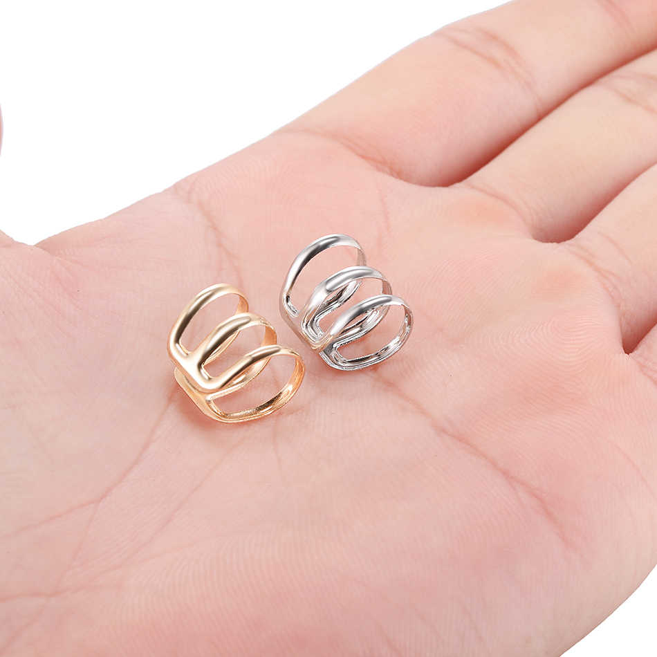 1PC Illusion Captive Bead Rings Fake Cartilage Clip-On Ring Helix Earring Non Pierced Clip On Closure Ring Ear Cuff Body Jewelry