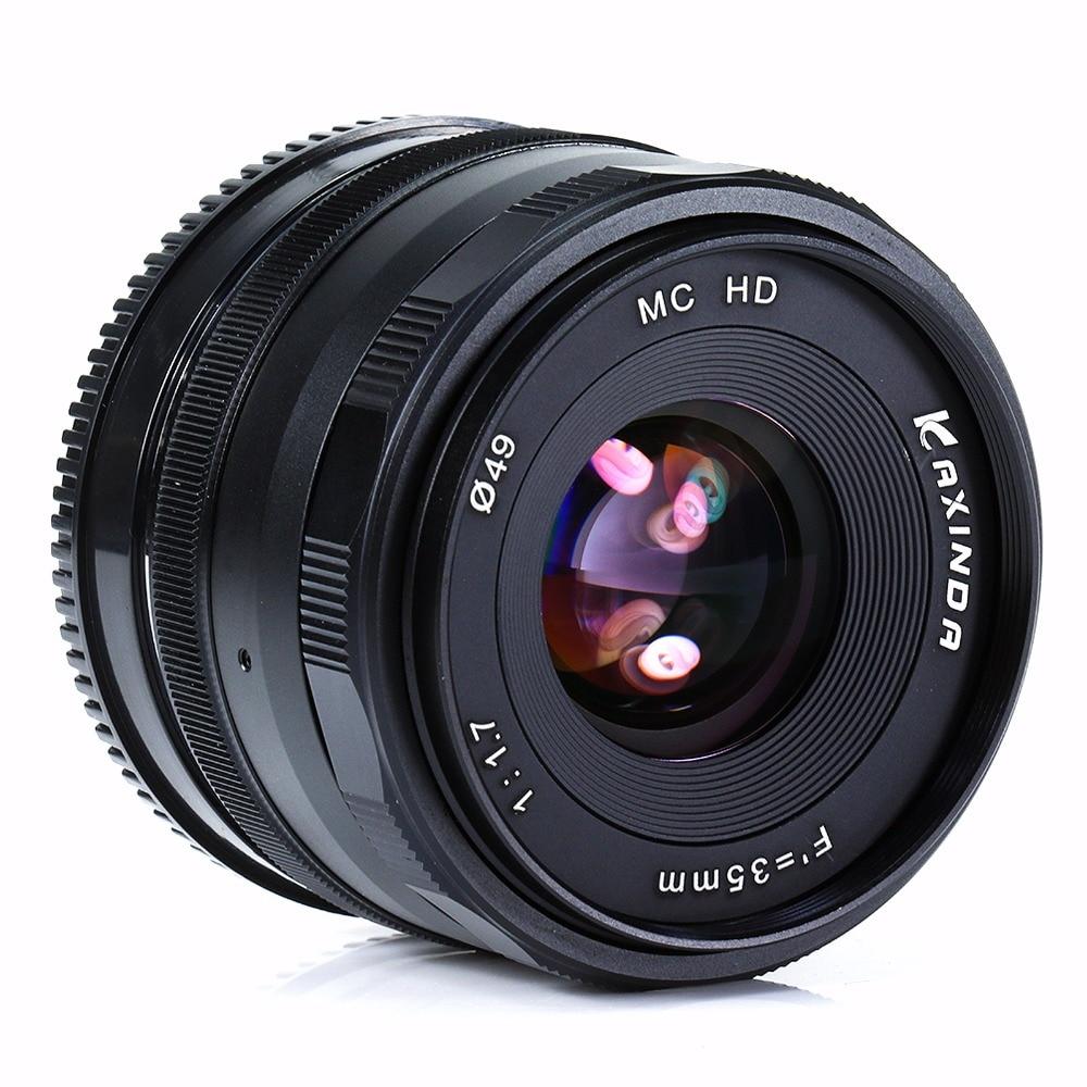 new Kaxinda 35mm f/1.7 Lens for Fujifilm FX X-A1 X-M1 X-E1 X-E2 X-Pro1 X-T1 Black pixco adapter suit for alpa lens to fujifilm x mount fx x pro1 x e2 x m1 x a1 x t1 x e1