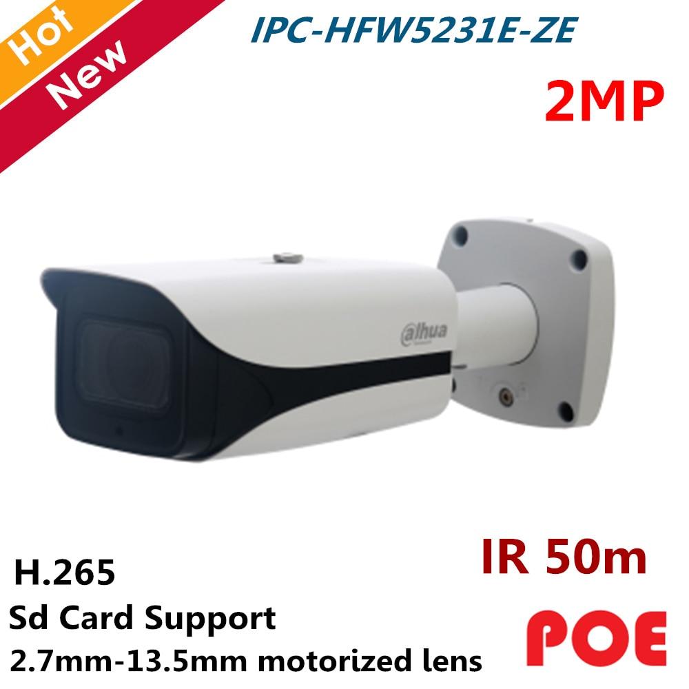 Dahua POE Waterproof IP Camera Outdoor IPC-HFW5231E-ZE 2MP 1/2.8 Cmos H.265 Micro SD memory Motorized lens surveillance cameraDahua POE Waterproof IP Camera Outdoor IPC-HFW5231E-ZE 2MP 1/2.8 Cmos H.265 Micro SD memory Motorized lens surveillance camera