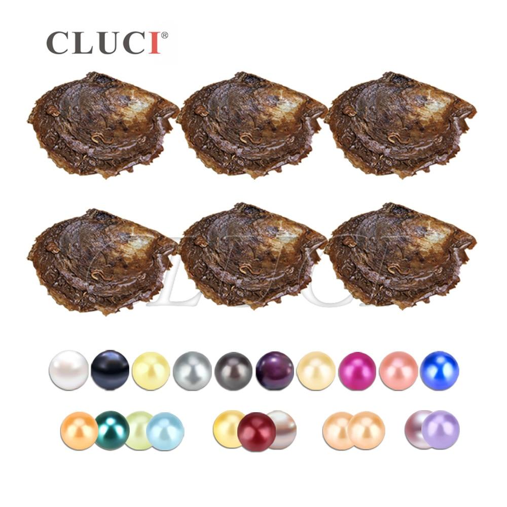 CLUCI 150 sztuk 6 8mm Mix 20 kolorów naturalne okrągłe perły Akoya ze słoną wodą koraliki pakowane próżniowo ostrygi z perły w Koraliki od Biżuteria i akcesoria na  Grupa 2
