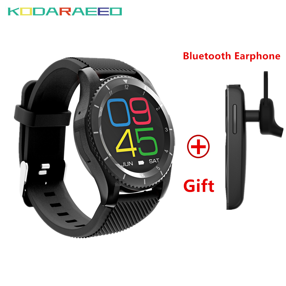 G8 Smartwatch Bluetooth 4.0 Fitness Tracker SIM Card Heart Rate Blood Pressure Smart Watch For Android IOS+Free Bluetooth Headse