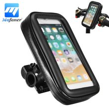Mofaner 1 Set Universal Waterproof Motorcycle Scooter Bicycle Phone Holder Mount Case Bag Pouch For Cell Phone GPS