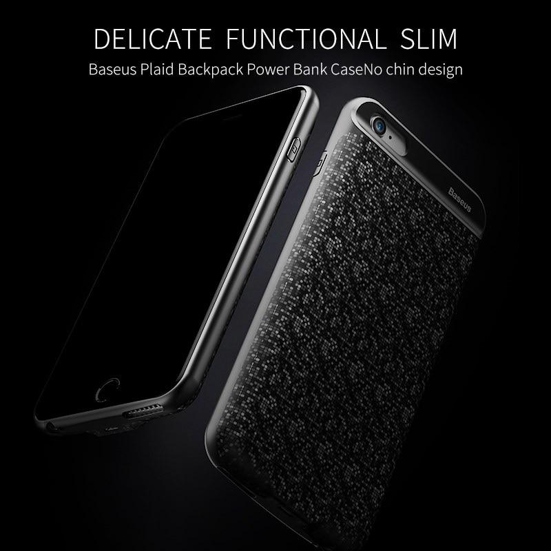 bilder für Original baseus externes ladegerät telefon zurück fall energienbank 4,7 zoll mit überlegene 2500 mah kapazität für iphone 6/6 S