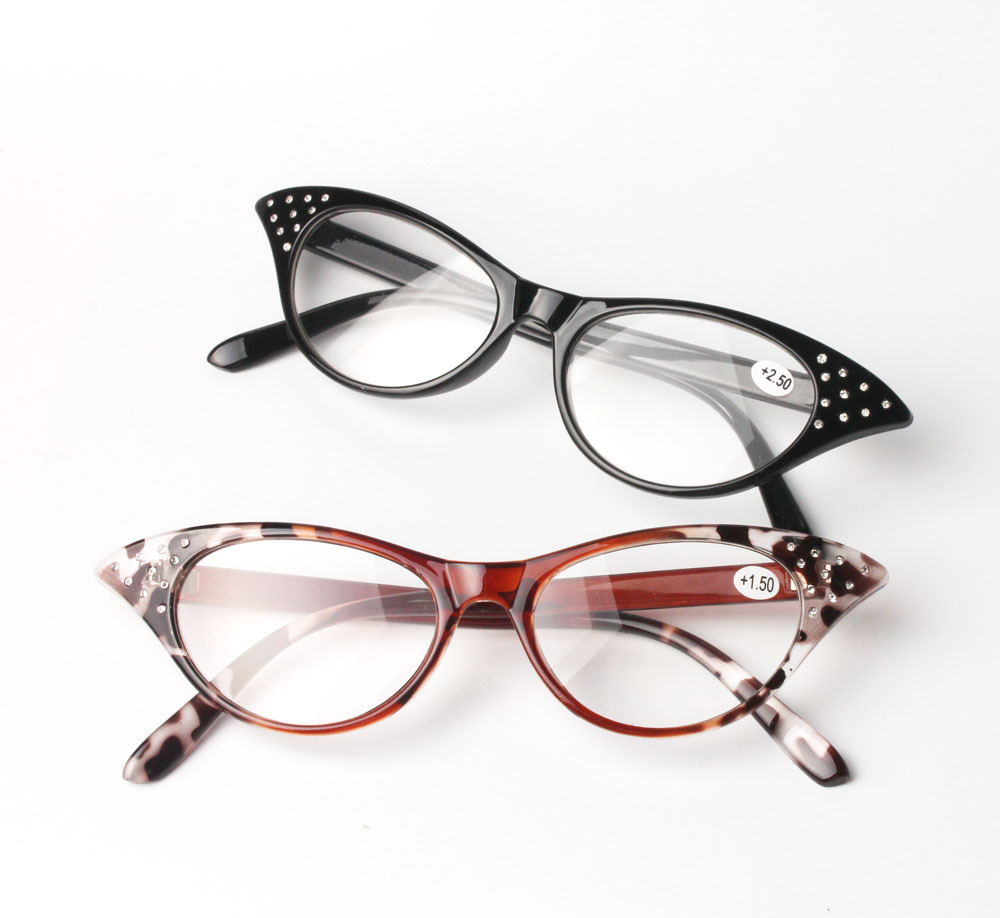 2016 Fashion Cateyes Women Reading Glasses Presbyopic Glasses gafas de lectura oculos de grau 100-350 Gift for Mother