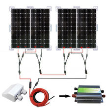 400W SOLAR SYSTEM 4PCS 100W MONO SOLAR PANEL CHARGE 12V HOME CAMPER RV OFF GRID