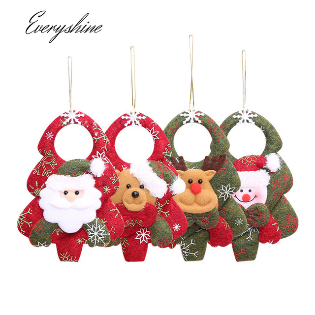 2019 new christmas decorations santa claus snowman reindeer christmas tree pendants xmas party home hanging ornaments - New Christmas Decorations