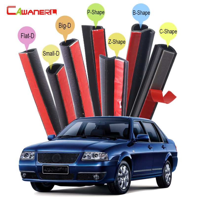 Cawanerl Car 4-Door Hood Trunk Sealing Seal Strip Kit Rubber Weatherstrip For VW Volkswagen Polo GOL Lavida Lamando Santana cawanerl whole car hood trunk door sealing seal strip kit seal edging trim rubber weatherstrip for jaguar c x17 f pace