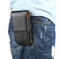 Leather Pouch Belt Clip Hook Loop Shockproof Phone Case Cover Bag Holster For Multi Smart Phone