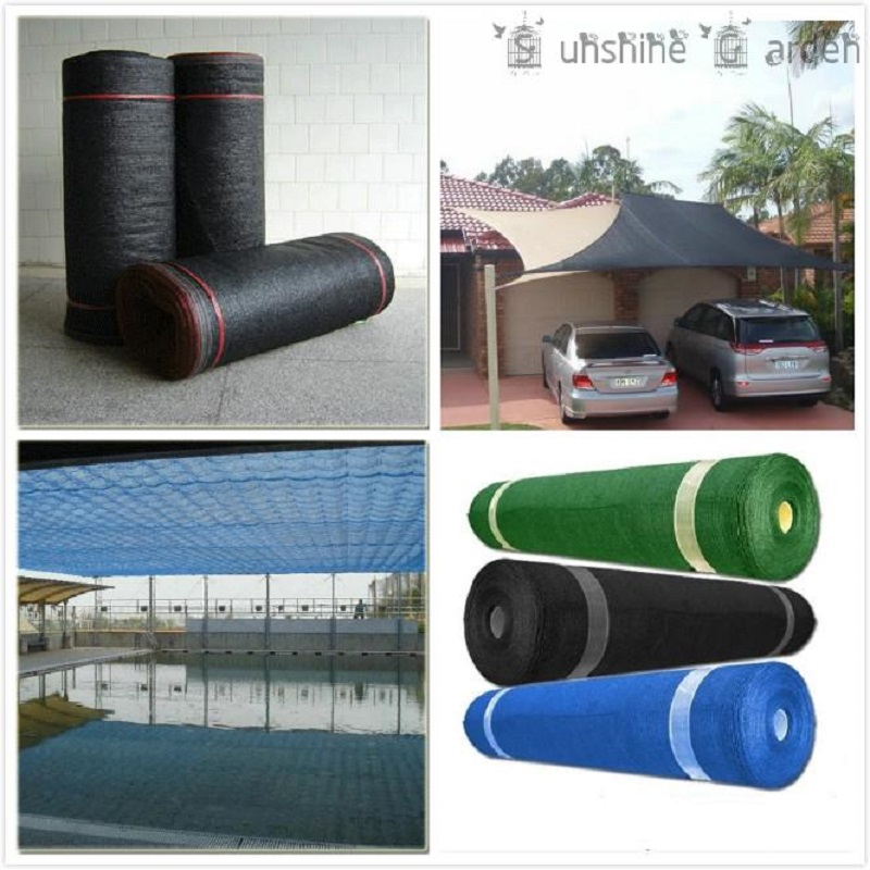 55% Shade Rate 6Ft x 16Ft/2Meters x 5Meters HDPE Shade Net for Garden and Greenhouse Car Roof Sun Mesh Shade Cloth UV Resistant