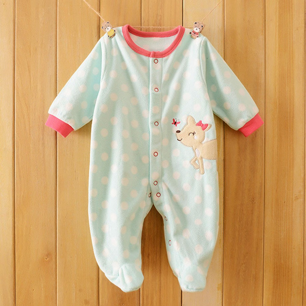 2016-Autumn-Spring-Wave-Point-Baby-Fleece-Pajamas-Rompers-One-Pieces-Long-Sleeve-Jumpsuit-Cute-Animal-Baby-Sleep&Play-Clothes-CL0886 (17)