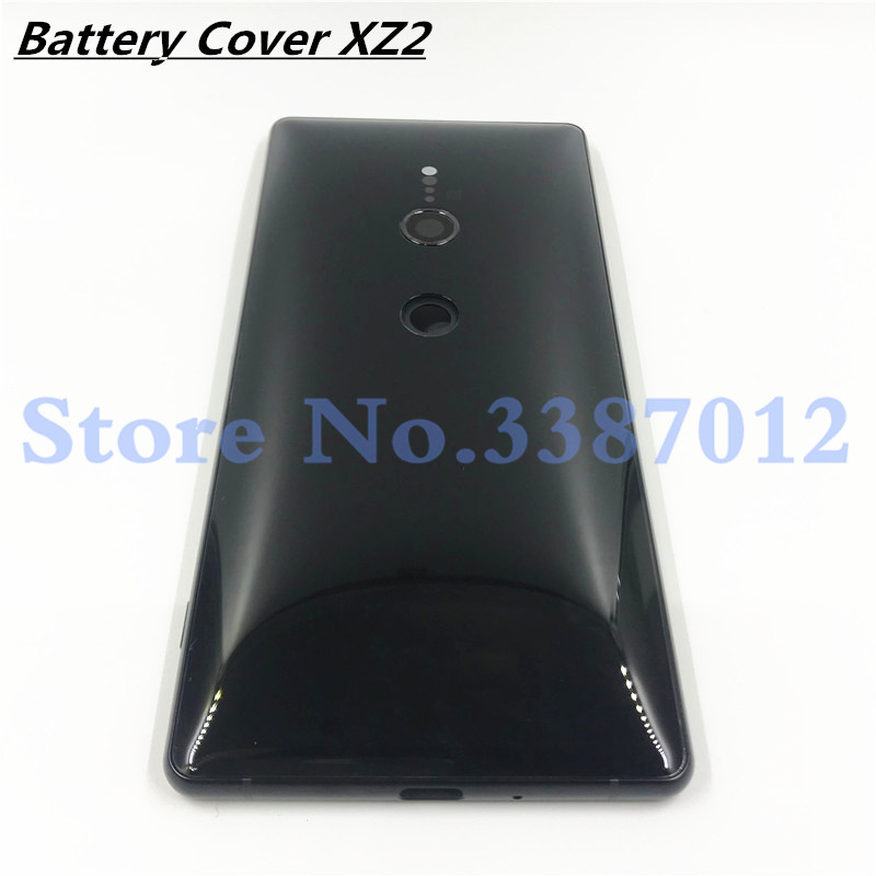 Original For Sony Xperia XZ2 H8216 H8266 H8276 H8296 Back Battery Glass Cover Rear Door Housing