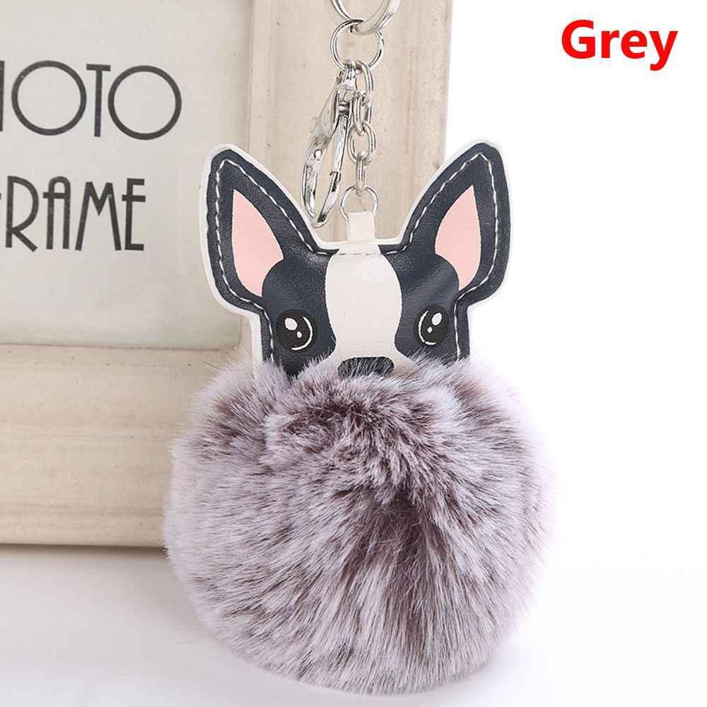 ปุยF Auxกระต่ายขนบอลฝรั่งเศสบูลด็อกพู่หนังPuรถยนต์สัตว์สุนัขเสน่ห์เล็กๆน้อยๆกระเป๋าอุปกรณ์เสริม