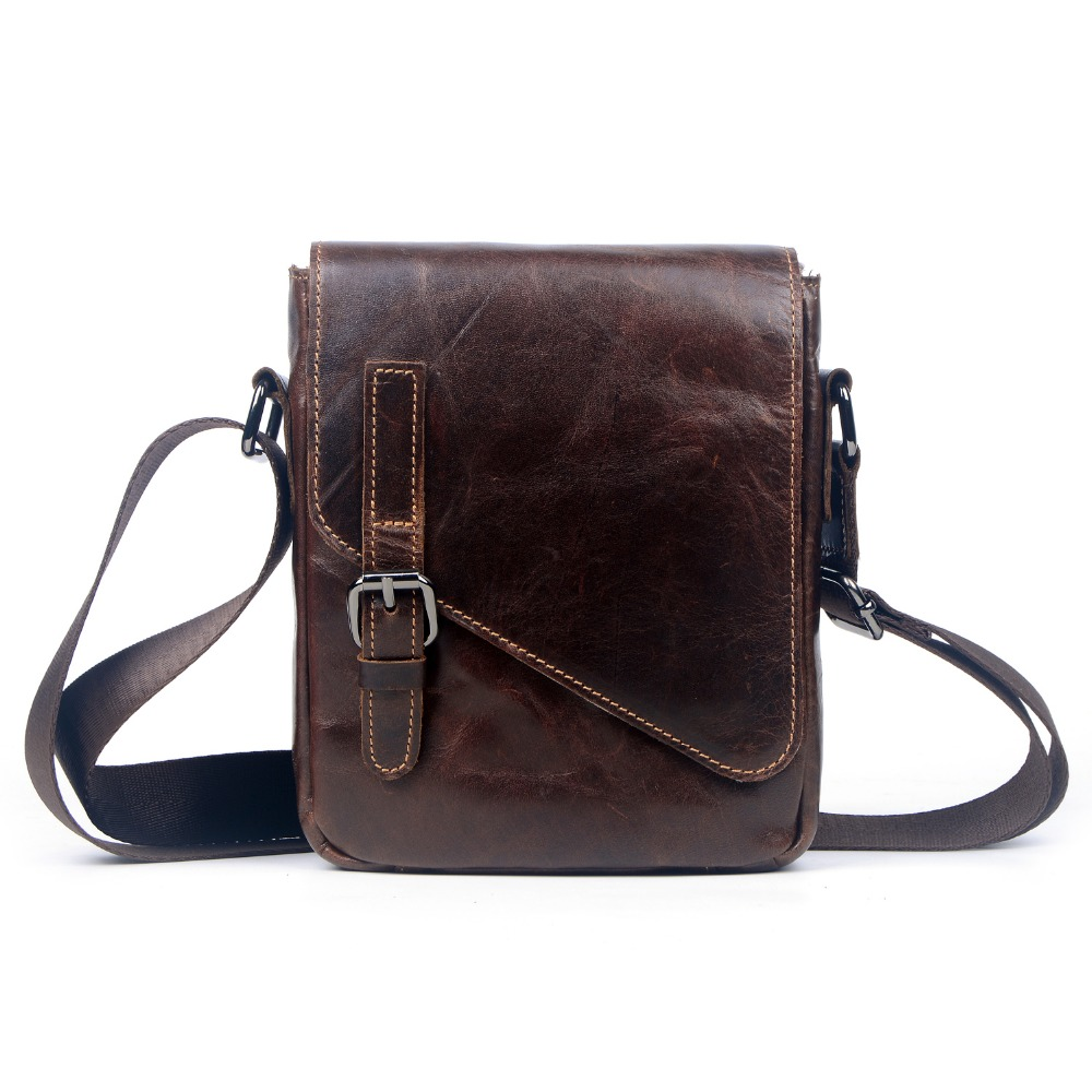 2016 New Fashion Men Bags Genuine Leather Messenger Bag for Men High Quality Head Layer Cowhide crossbody bag Shoulder bag 2016 new fashion 100% genuine cowhide leather shoulder bag vintage high quality messenger bags for men bolsa feminina smb423