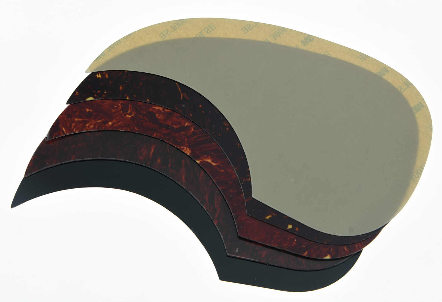 Teardrop Style Acoustic Guitar Pickguard Scratch Plate w/ Adhesive Red Tortoise
