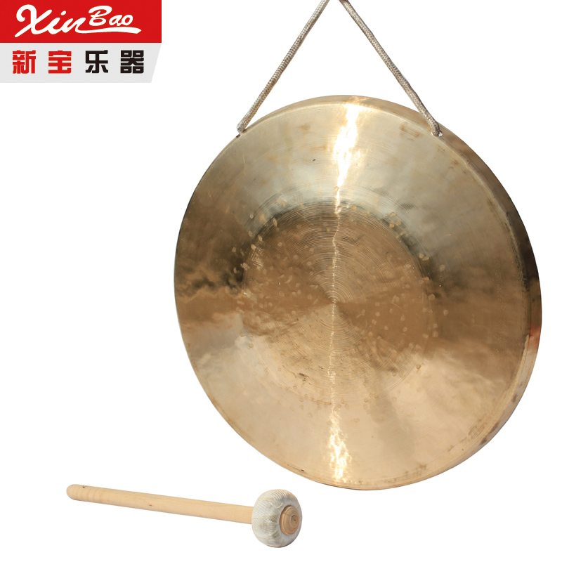 35cm low pitch gong with hammer sisals gonfalons Chinese traditional Musical instrument professional chinese 18 chau gong