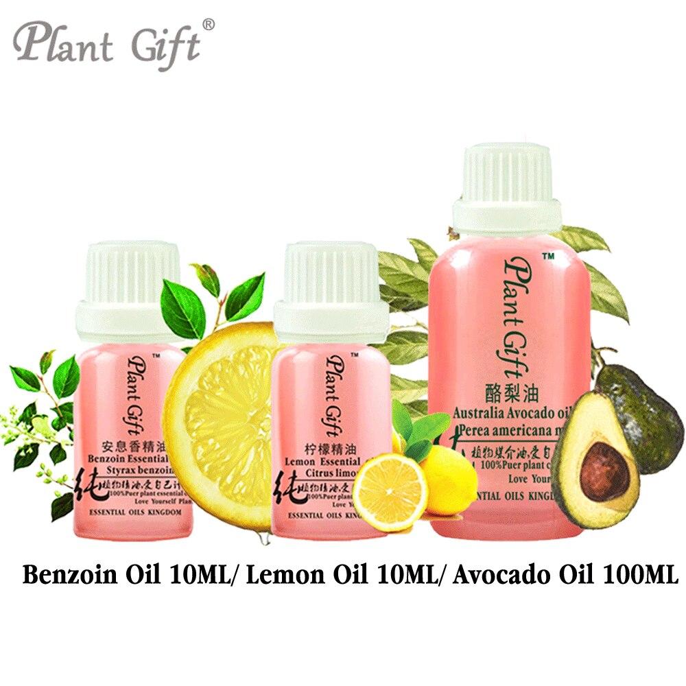 Free Shopping 100% Pure Plant Essential Oils Benzoin / Lemon/ Avocado Oil Vietnam Imports Restore Elasticity Body Oil Dry Oil