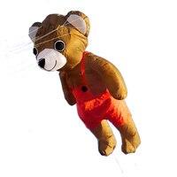 Профессиональный Большой кулон воздушный змей с изображением медведя нейлон открытый игрушки летающие Мягкие 3d воздушные змеи для взрослы