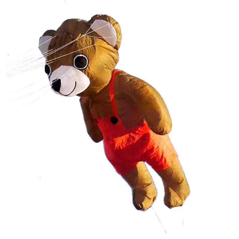 Профессиональный Большой кулон медведь воздушный змей нейлон открытый игрушки летающие Мягкие 3d воздушные змеи для взрослых ветер носок