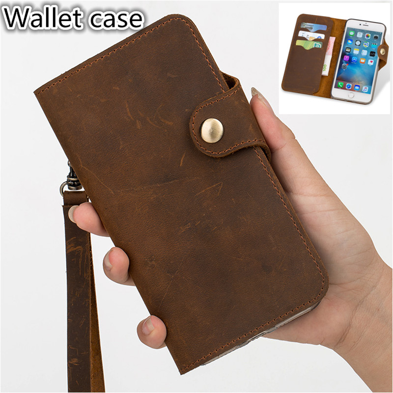 HY07 Genuine Leather Wallet Flip Case For Asus ZenFone 3 ZE520KL Phone Case For Asus ZenFone 3 ZE520KL Flip Cover