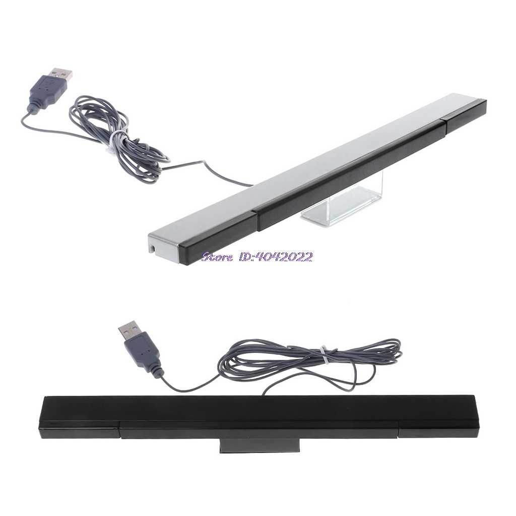 Sensor Bar Wired Receivers IR Signal Ray USB Plug Replacement for Nitendo Remote