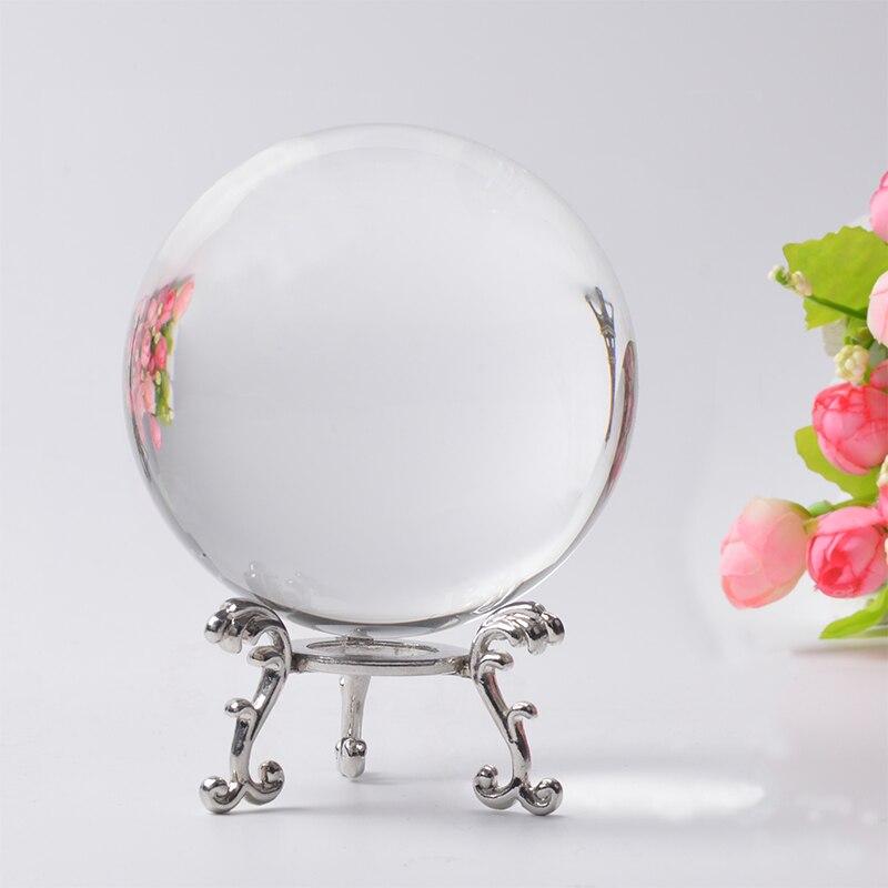 80mm Transparent Boule De Verre Poli Sphère Feng Shui Décoratif Globe De Cristal Craft Home Decor Cadeaux