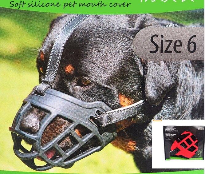 2017 Hot Sale Soft Silicone Strong dog muzzle Basket Design 6 Sizes Anti-biting Adjusting Straps Mask High Quality dog mask
